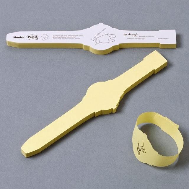 超速でメモる腕時計型メモ帳。Post-it Watch
