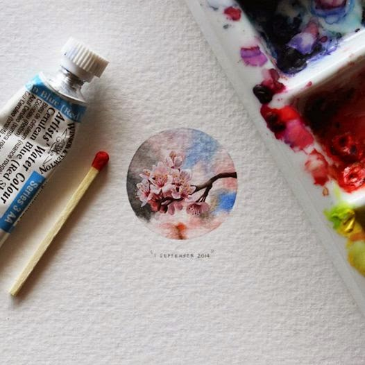 水彩画で描かれた超繊細なイラスト
