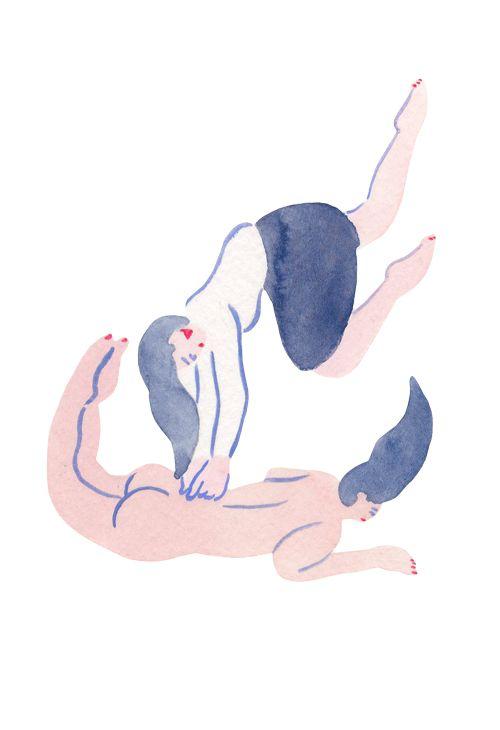 空中演舞でツボ押しする彼女は、プロフェッショナル。